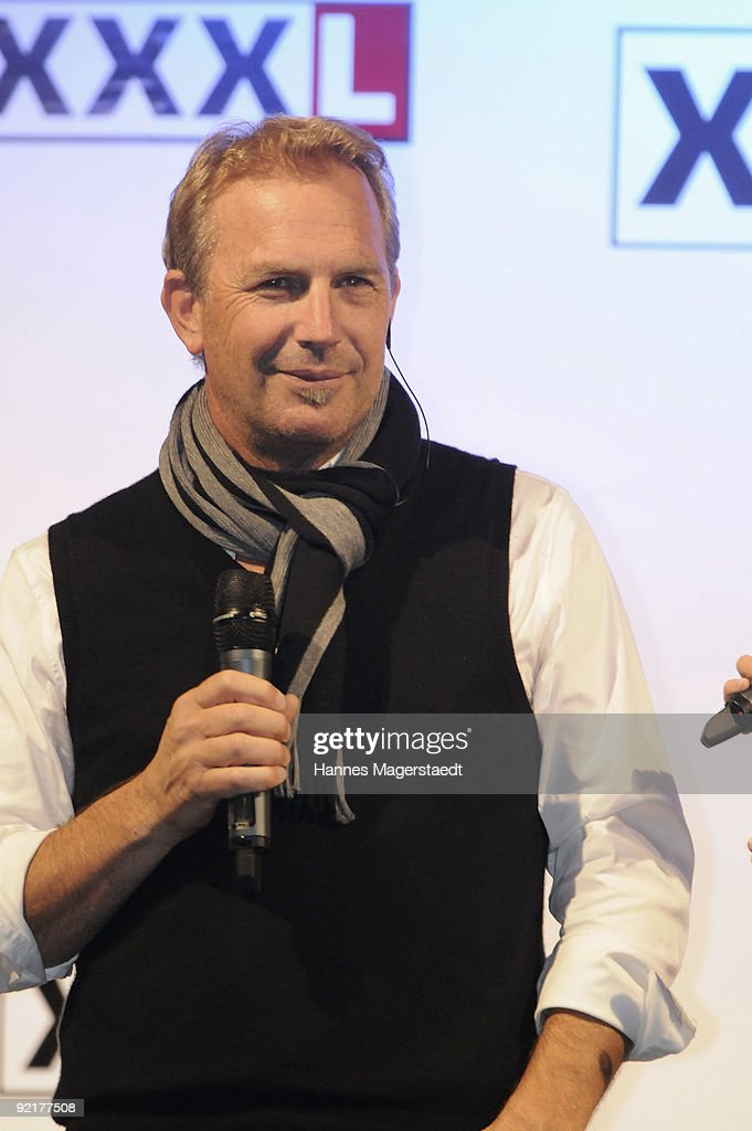 kevin costner and alfons schuhbeck at xxxlutz getty images. Black Bedroom Furniture Sets. Home Design Ideas