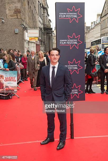 Actor Kevin Guthrie attends the Opening Night Gala and World Premiere of 'The Legend of Barney Thomson' at Festival Theatre during the Edinburgh...