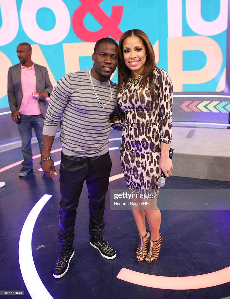 Actor Kevin Hart and 106 & Park host Keshia Chante attend 106 & Park at 106 & Park studio on November 11, 2013 in New York City.