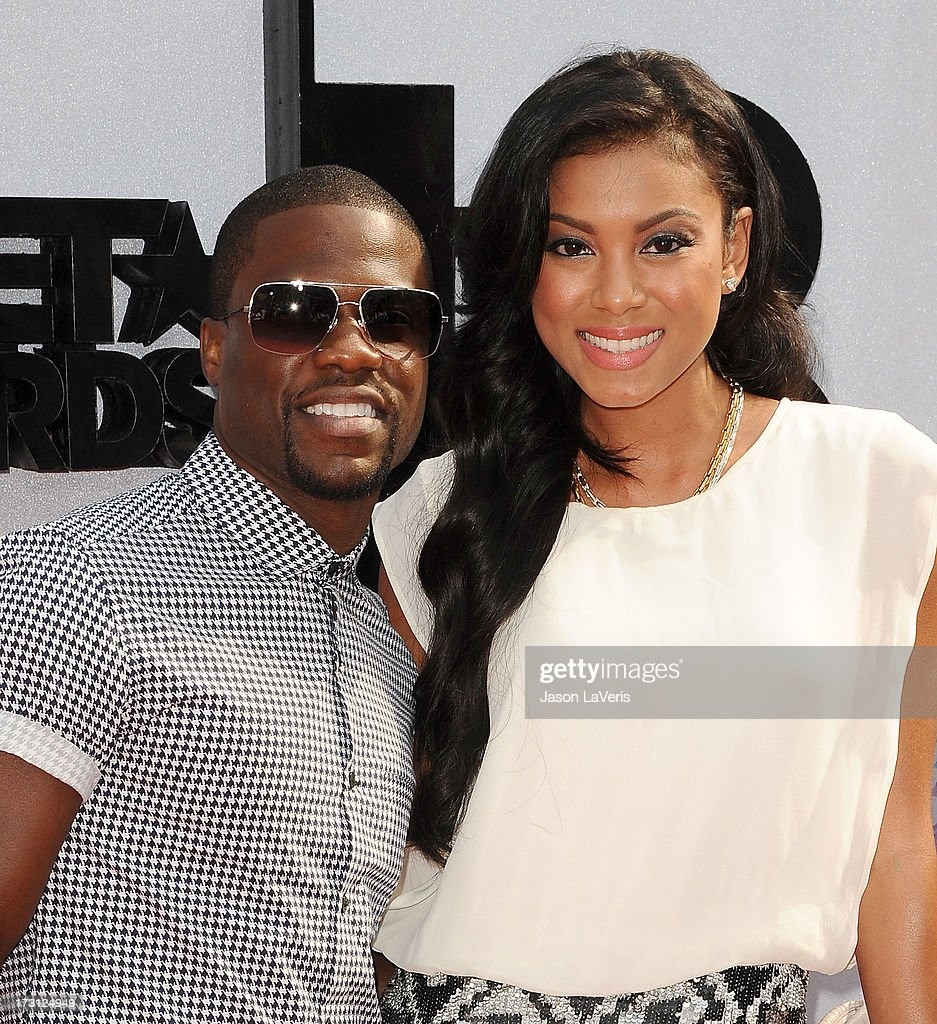 Actor Kevin Hart and Eniko Parrish attend the 2013 BET Awards at Nokia Theatre L.A. Live on June 30, 2013 in Los Angeles, California.