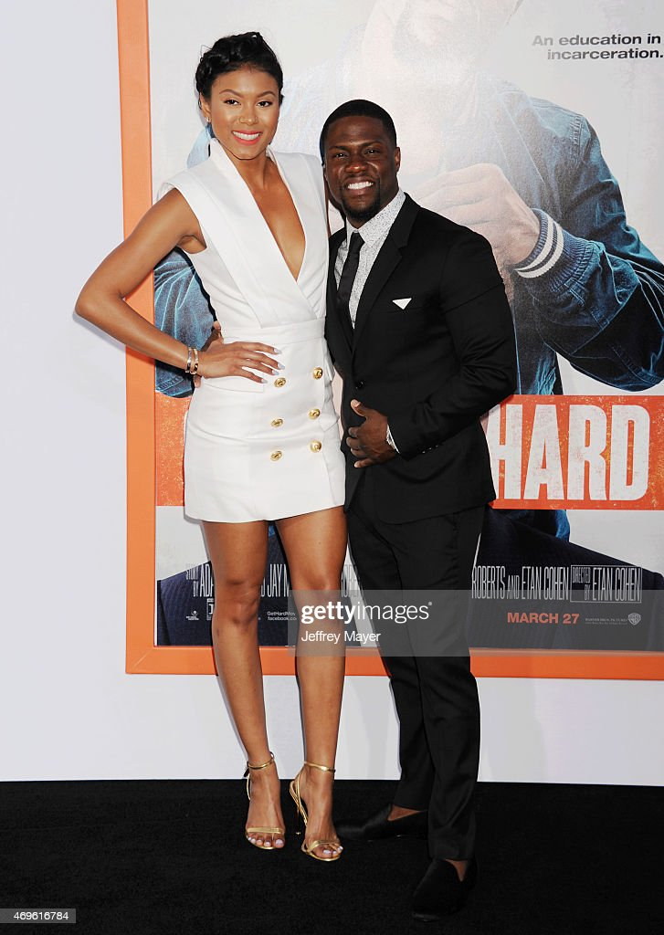 Actor Kevin Hart and Eniko Parrish attend the 'Get Hard' Los Angeles premiere held at the TCL Chinese Theatre IMAX on March 25 2015 in Hollywood...