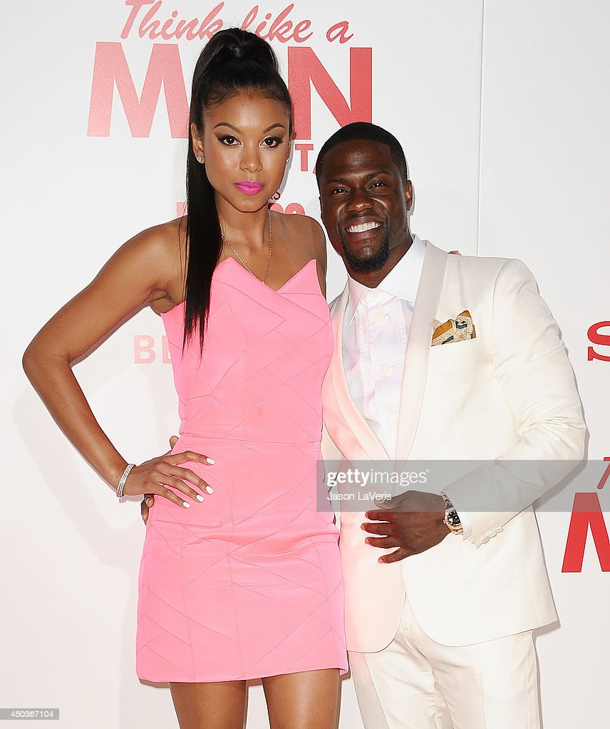 Actor Kevin Hart (R) and Eniko Parrish attend the premiere of 'Think Like A Man Too' at TCL Chinese Theatre on June 9, 2014 in Hollywood, California.