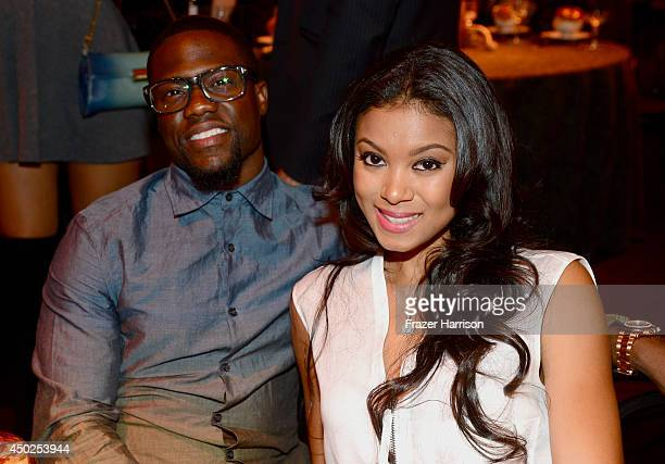 Actor Kevin Hart and Eniko Parrish attends Spike TV's 'Guys Choice 2014' at Sony Pictures Studios on June 7 2014 in Culver City California