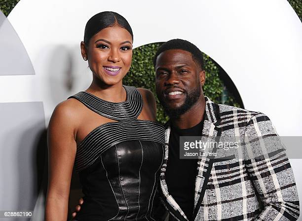 Actor Kevin Hart and wife Eniko Parrish attend the GQ Men of the Year party at Chateau Marmont on December 8 2016 in Los Angeles California