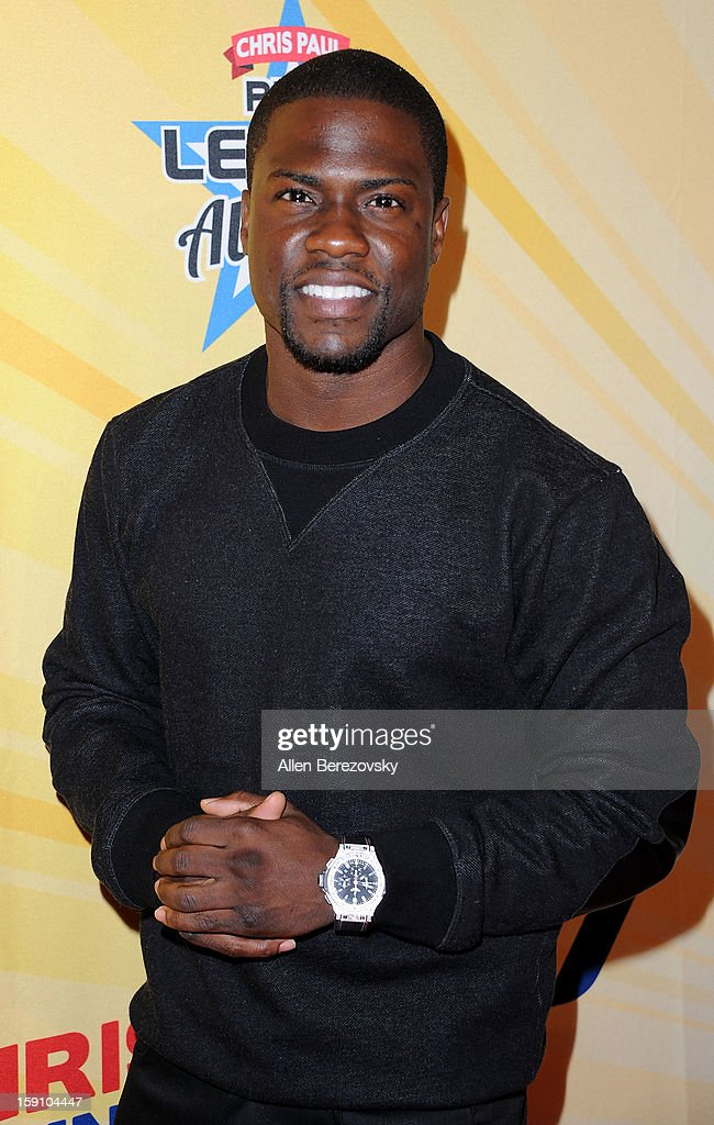Actor <a gi-track='captionPersonalityLinkClicked' href=/galleries/search?phrase=Kevin+Hart+-+Actor&family=editorial&specificpeople=4538838 ng-click='$event.stopPropagation()'>Kevin Hart</a> arrives at the 5th annual Chris Paul PBA All-Stars Invitational hosted by LA Clippers star guard Chris Paul at Lucky Strike Lanes at L.A. Live on January 7, 2013 in Los Angeles, California.