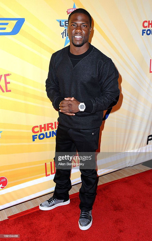Actor Kevin Hart arrives at the 5th annual Chris Paul PBA All-Stars Invitational hosted by LA Clippers star guard Chris Paul at Lucky Strike Lanes at L.A. Live on January 7, 2013 in Los Angeles, California.