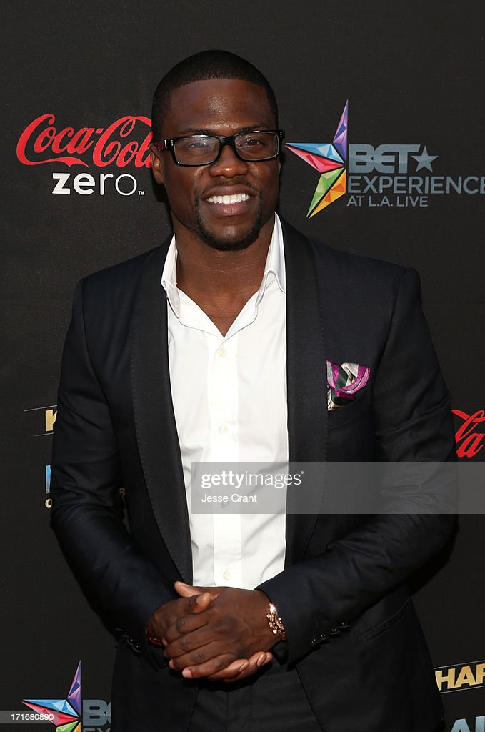 Actor Kevin Hart attends Movie Premiere 'Let Me Explain' with Kevin Hart during the 2013 BET Experience at Regal Cinemas LA Live on June 27 2013 in...