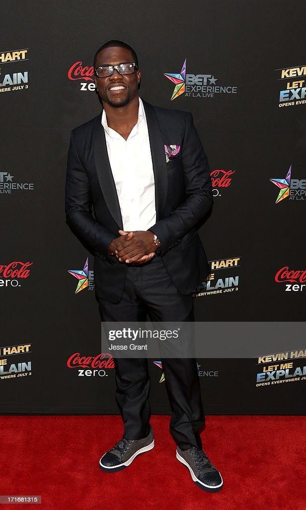 Actor Kevin Hart attends Movie Premiere 'Let Me Explain' with Kevin Hart during the 2013 BET Experience at Regal Cinemas L.A. Live on June 27, 2013 in Los Angeles, California.