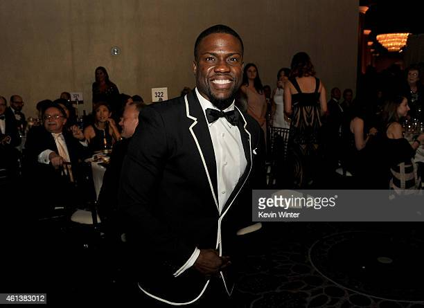 Actor Kevin Hart attends the 72nd Annual Golden Globe Awards cocktail party at The Beverly Hilton Hotel on January 11 2015 in Beverly Hills California