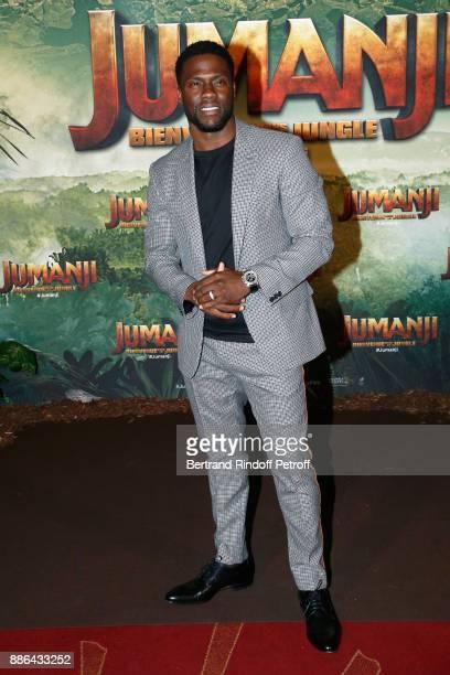 Actor Kevin Hart attends the 'Jumanji Welcome to the Jungle Jumanji Bienvenue dans la jungle' Paris Premiere at Le Grand Rex on December 5 2017 in...