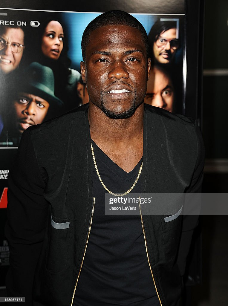 Actor <a gi-track='captionPersonalityLinkClicked' href=/galleries/search?phrase=Kevin+Hart+-+Acteur&family=editorial&specificpeople=4538838 ng-click='$event.stopPropagation()'>Kevin Hart</a> attends the premiere of 'A Haunted House' at ArcLight Hollywood on January 3, 2013 in Hollywood, California.