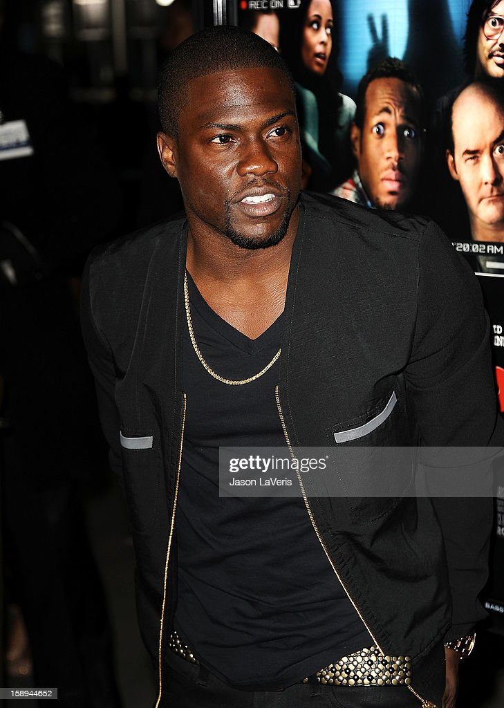 Actor <a gi-track='captionPersonalityLinkClicked' href=/galleries/search?phrase=Kevin+Hart+-+Actor&family=editorial&specificpeople=4538838 ng-click='$event.stopPropagation()'>Kevin Hart</a> attends the premiere of 'A Haunted House' at ArcLight Hollywood on January 3, 2013 in Hollywood, California.
