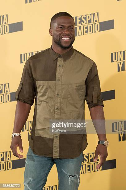 Actor Kevin Hart attends 'Un espia y medio' photocall at Villamagna hotel on June 7 2016 in Madrid Spain