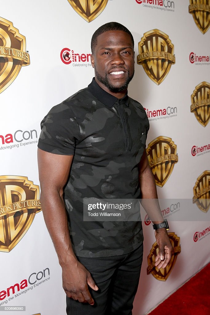 "Actor Kevin Hart of 'Central Intelligence' attends CinemaCon 2016 Warner Bros Pictures Invites You to ""The Big Picture"" an Exclusive Presentation..."
