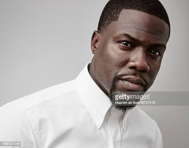 LOS ANGELES CA APRIL 12 2015 Actor Kevin Hart poses for a portrait at the 2015 MTV Movie Awards at Nokia Theatre LA on April 12 2015 in Los Angeles...