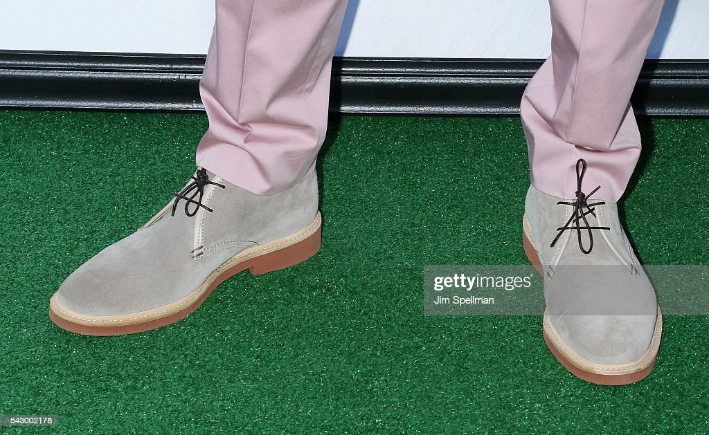 Actor Kevin Hart, shoe detail, attends the 'Secret Life Of Pets' New York premiere on June 25, 2016 in New York City.