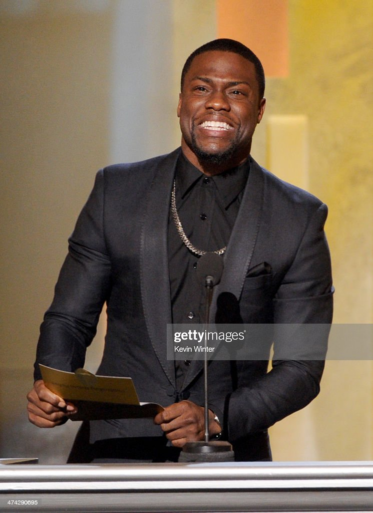 Actor <a gi-track='captionPersonalityLinkClicked' href=/galleries/search?phrase=Kevin+Hart+-+Actor&family=editorial&specificpeople=4538838 ng-click='$event.stopPropagation()'>Kevin Hart</a> speaks onstage during the 45th NAACP Image Awards presented by TV One at Pasadena Civic Auditorium on February 22, 2014 in Pasadena, California.