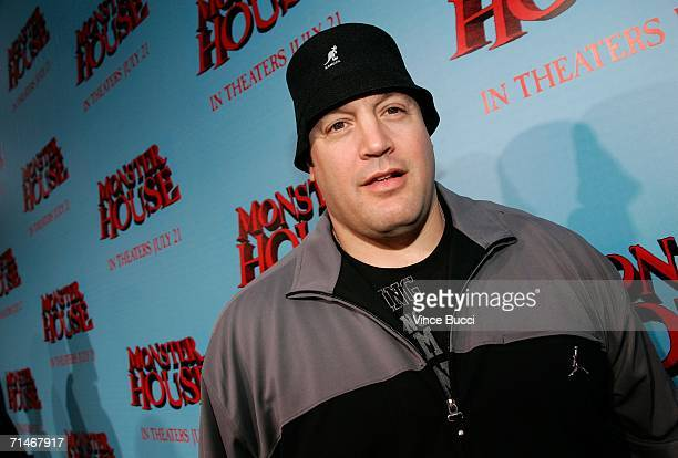 Actor Kevin James arrives at Sony Pictures premiere of 'Monster House' held at Mann's Village Theatre on July 17 2006 in Westwood California