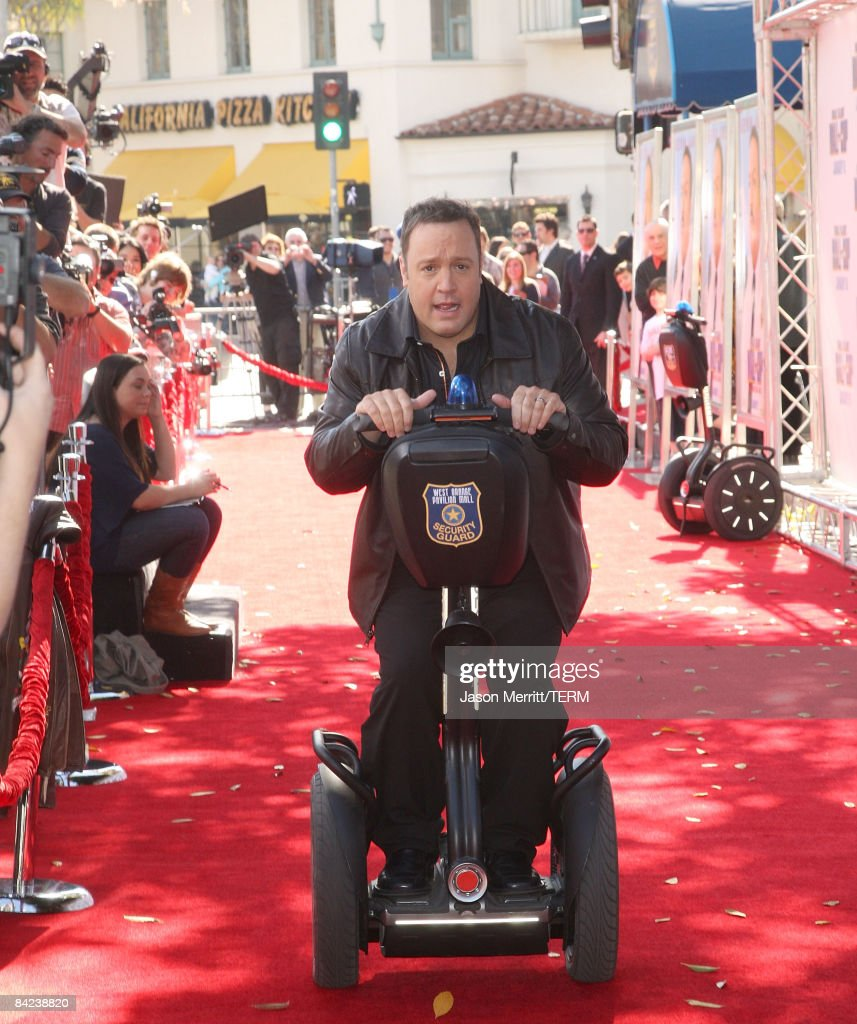 Actor Kevin James arrives at the premiere of Columbia Pictures' 'Paul Blart: Mall Cop' at the Mann Village Theatre on January 10, 2009 in Westwood, California.