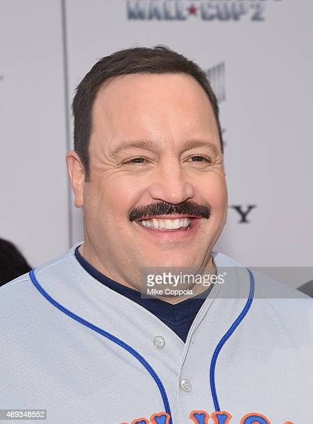 Actor Kevin James arrives for the 'Paul Blart Mall Cop 2' New York Premiere at AMC Loews Lincoln Square on April 11 2015 in New York City