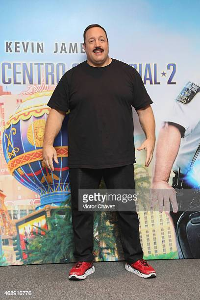 Actor Kevin James attends a photocall to promote the film 'Paul Blart Mall Cop 2' at Four Seasons Hotel on April 8 2015 in Mexico City Mexico