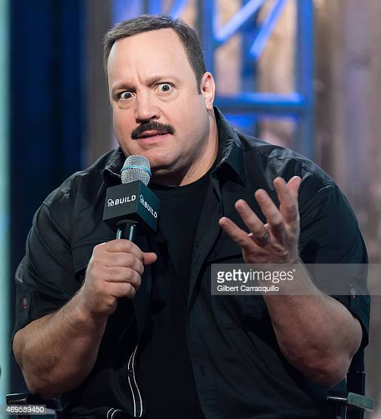 Actor Kevin James attends AOL Build Speaker Series Kevin James David Henrie Andy Fickman at AOL Studios In New York on April 13 2015 in New York City