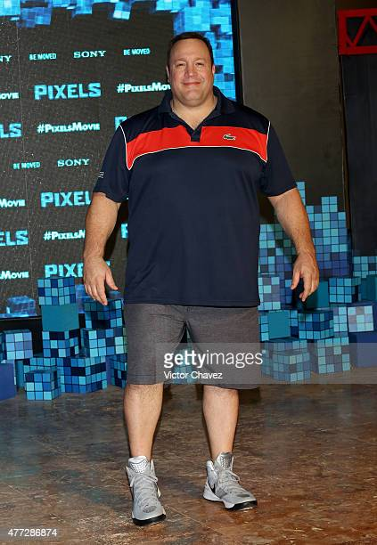 Actor Kevin James attends the 'Pixels' photo call during Summer Of Sony Pictures Entertainment 2015 at The RitzCarlton Cancun on June 15 2015 in...