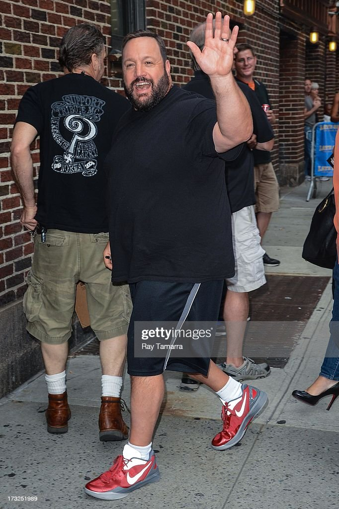 Actor Kevin James enters the 'Late Show With David Letterman' taping at the Ed Sullivan Theater on July 10, 2013 in New York City.