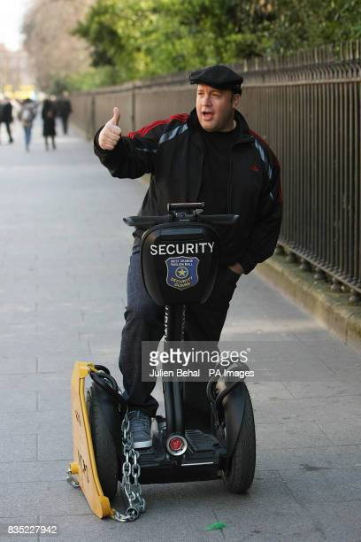 Actor Kevin James has his Segway clamped in StStephens Green James is in Dublin to promote the new Hollywood film 'Paul Blart Mall Cop'