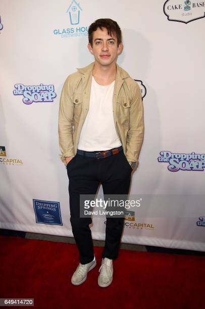 Actor Kevin McHale attends the premiere of Glass House Distributions' 'Dropping The Soap' at Writers Guild Theater on March 7 2017 in Beverly Hills...