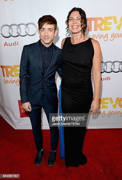 Actor Kevin Michael McHale attends 'TrevorLIVE LA' honoring Jane Lynch and Toyota for the Trevor Project at Hollywood Palladium on December 8 2013 in...