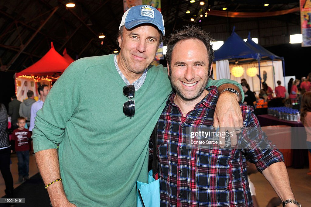 Actor <a gi-track='captionPersonalityLinkClicked' href=/galleries/search?phrase=Kevin+Nealon&family=editorial&specificpeople=214104 ng-click='$event.stopPropagation()'>Kevin Nealon</a> (L) and actor Randy Sklar attend the P.S. Arts Express Yourself 2013 event held at Barker Hangar on November 17, 2013 in Santa Monica, California.