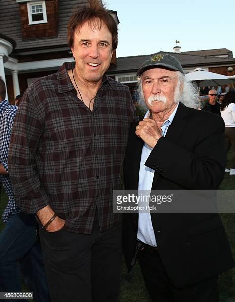 Actor Kevin Nealon and musician David Crosby attend Rock4EB Malibu with Jackson Browne David Spade sponsored by Suja Juice Sabra Hummus at Private...