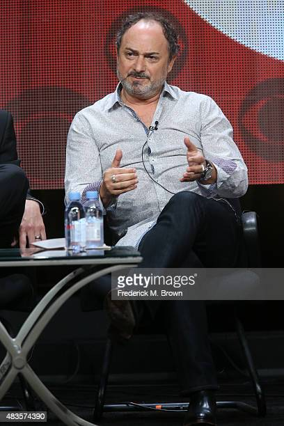 Actor Kevin Pollak speaks onstage during the 'Angel from Hell' panel discussion at the CBS portion of the 2015 Summer TCA Tour at The Beverly Hilton...