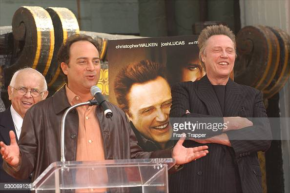 Actor Kevin Pollak with celebrated actor Christopher Walken who was being honored at his Hand and Footprints Ceremony at the Grauman's Chinese...