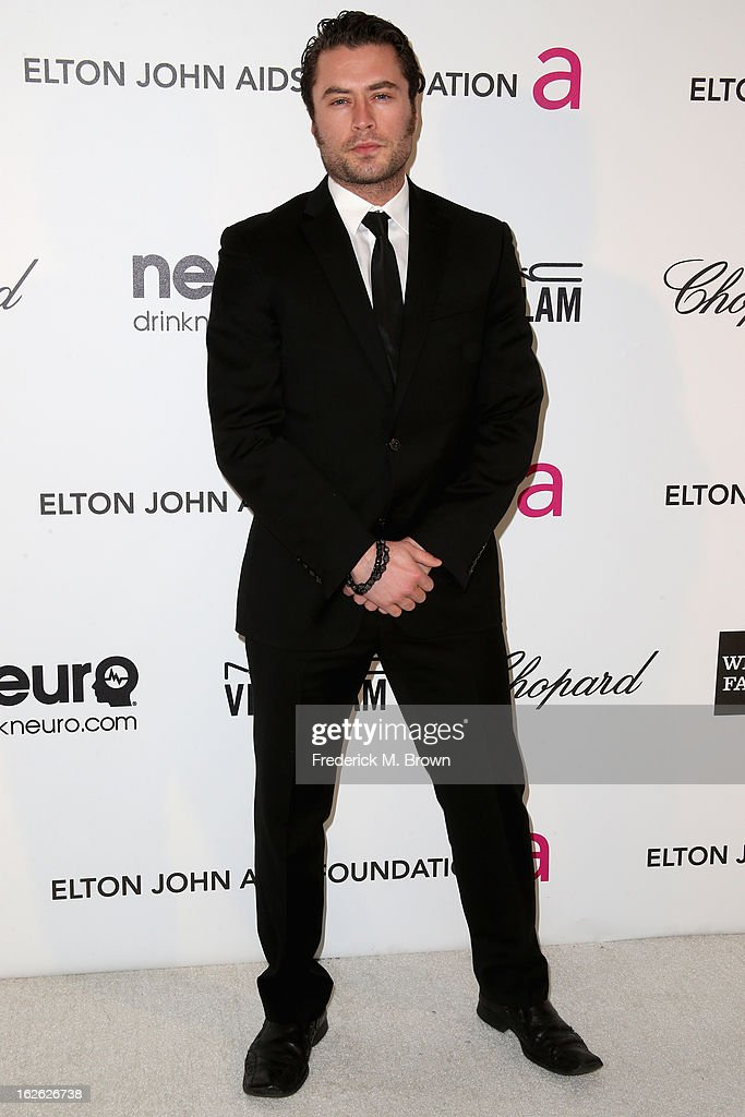 Actor Kevin Ryan arrives at the 21st Annual Elton John AIDS Foundation's Oscar Viewing Party on February 24, 2013 in Los Angeles, California.