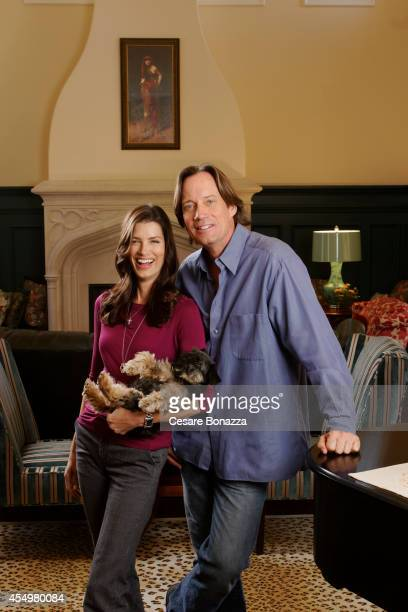 Actor Kevin Sorbo with his wife Sam Jenkins photographed at home in March in Calabasas California