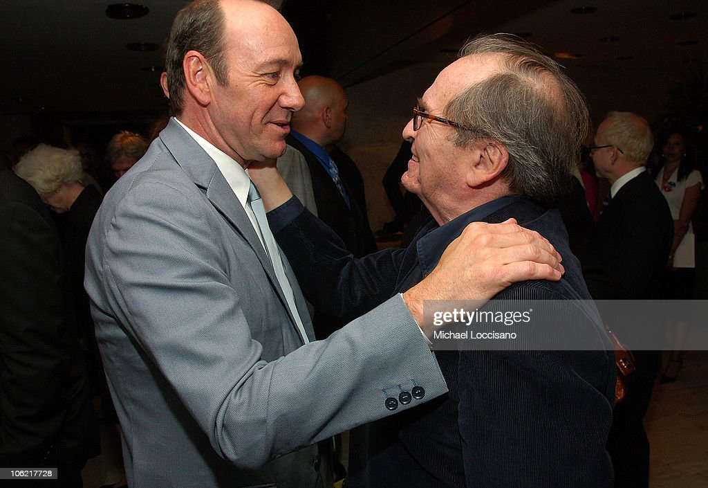 Actor <a gi-track='captionPersonalityLinkClicked' href=/galleries/search?phrase=Kevin+Spacey&family=editorial&specificpeople=202091 ng-click='$event.stopPropagation()'>Kevin Spacey</a> and director <a gi-track='captionPersonalityLinkClicked' href=/galleries/search?phrase=Sidney+Lumet&family=editorial&specificpeople=214143 ng-click='$event.stopPropagation()'>Sidney Lumet</a> attend the after party for the New York premiere of HBO Films' 'Recount', at The Four Seasons Restaurant in New York City on May 13, 2008.