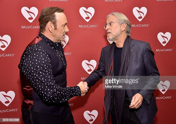Actor Kevin Spacey and President of the National Academy of Recording Arts and Sciences Neil Portnow attend Arts Ideas An Evening with Lionel Richie...