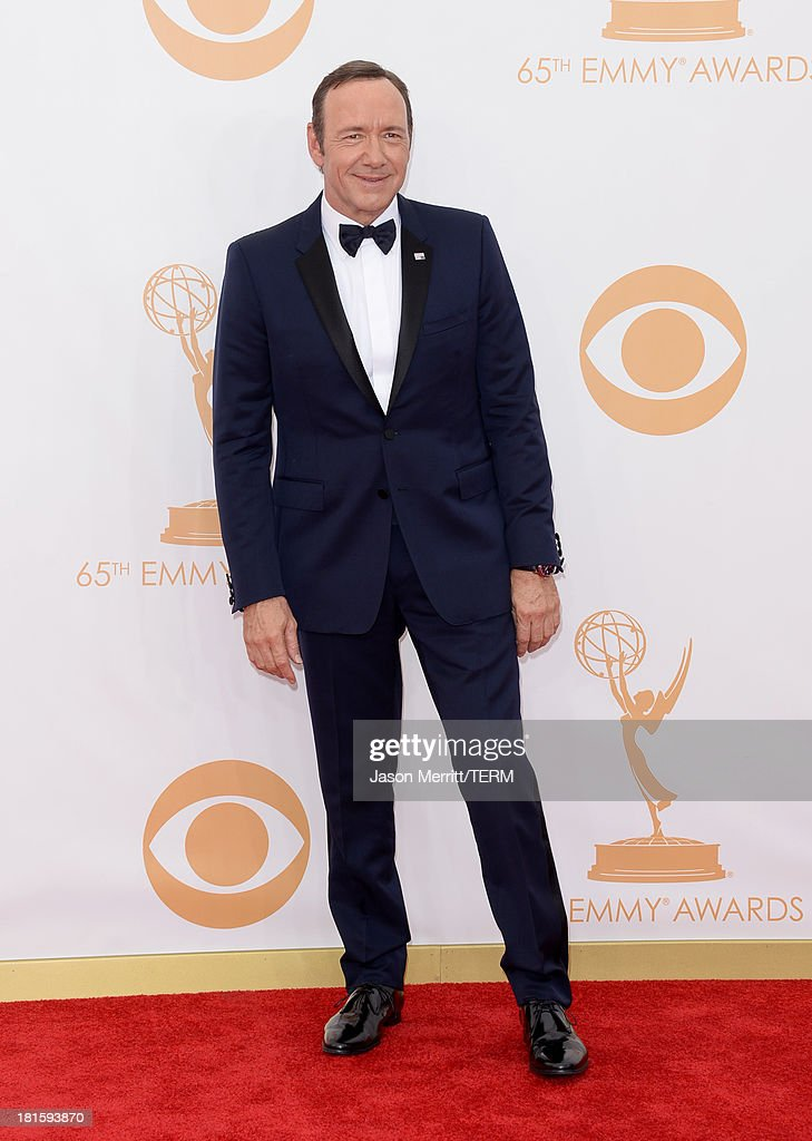 Actor Kevin Spacey arrives at the 65th Annual Primetime Emmy Awards held at Nokia Theatre LA Live on September 22 2013 in Los Angeles California
