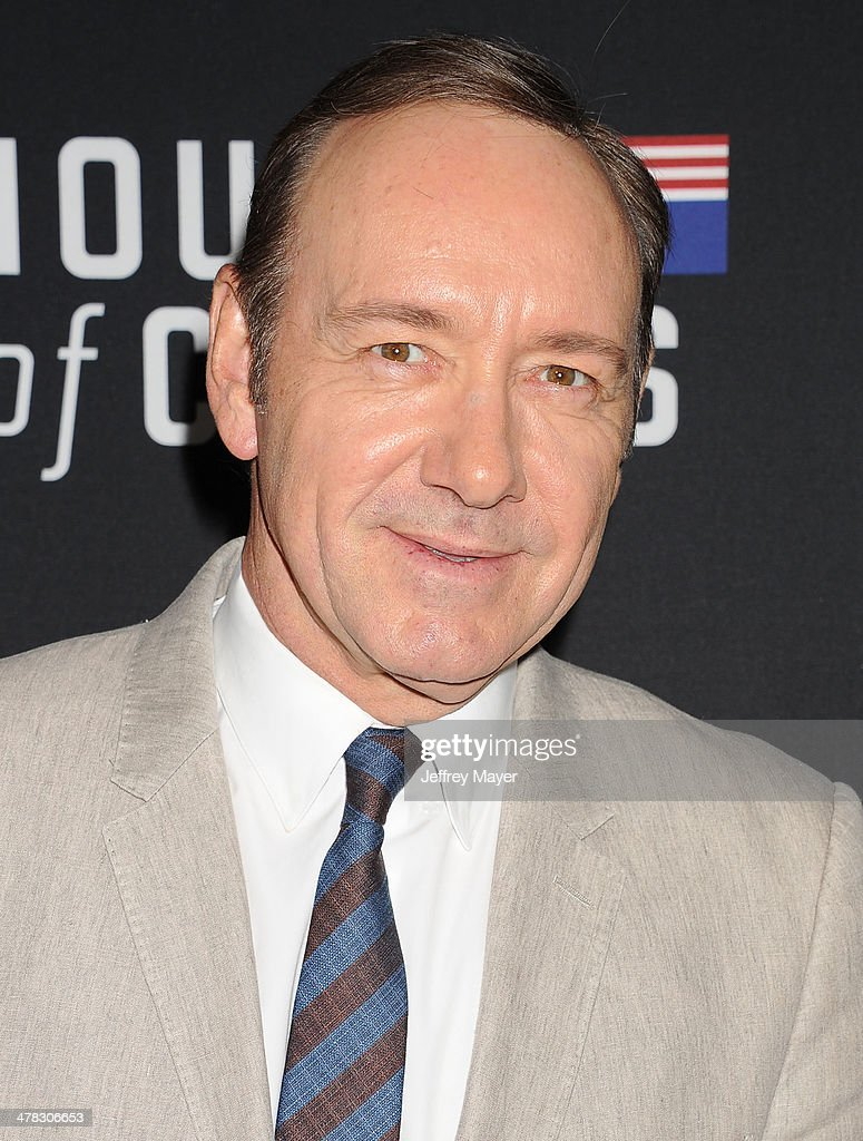 Actor <a gi-track='captionPersonalityLinkClicked' href=/galleries/search?phrase=Kevin+Spacey&family=editorial&specificpeople=202091 ng-click='$event.stopPropagation()'>Kevin Spacey</a> arrives at the 'House Of Cards' Season 2 special screening at Directors Guild Of America on February 13, 2014 in Los Angeles, California.