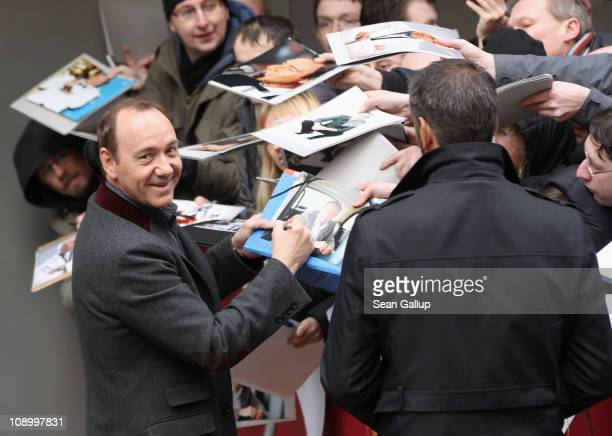 Actor Kevin Spacey arrives at the 'Margin Call' Photocall during day two of the 61st Berlin International Film Festival at the Grand Hyatt on...
