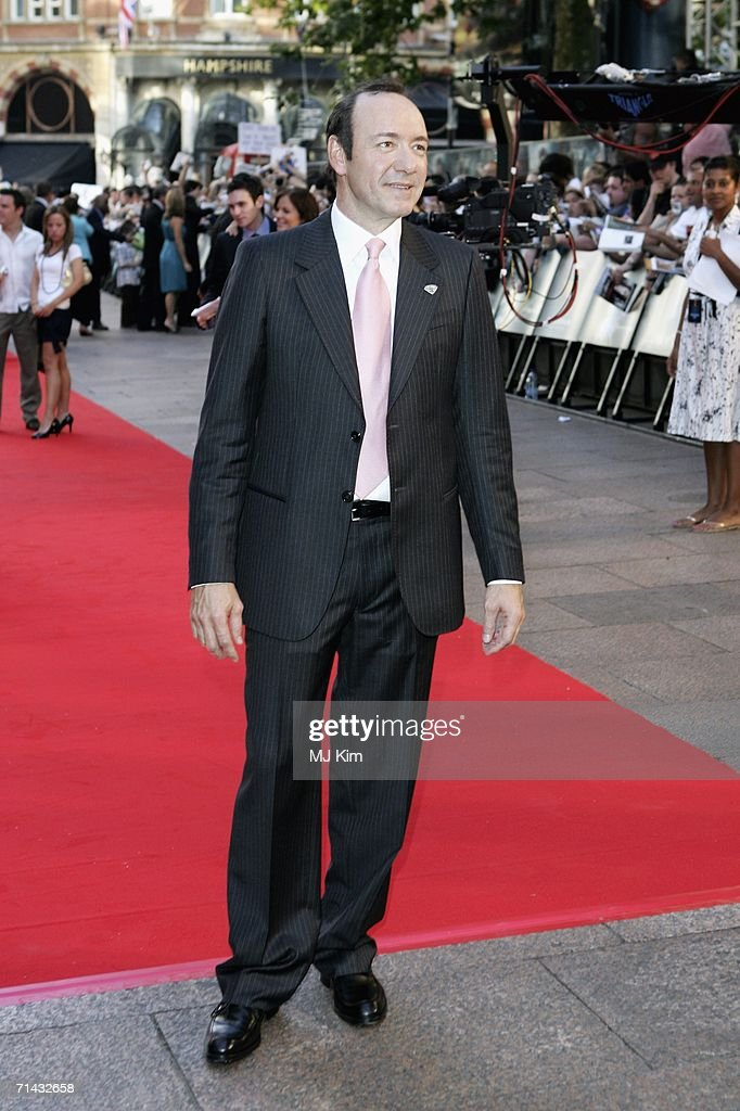 Actor Kevin Spacey arrives at the UK premiere of 'Superman Returns' held at the Odeon Leicester Square on July 13 2006 in London England