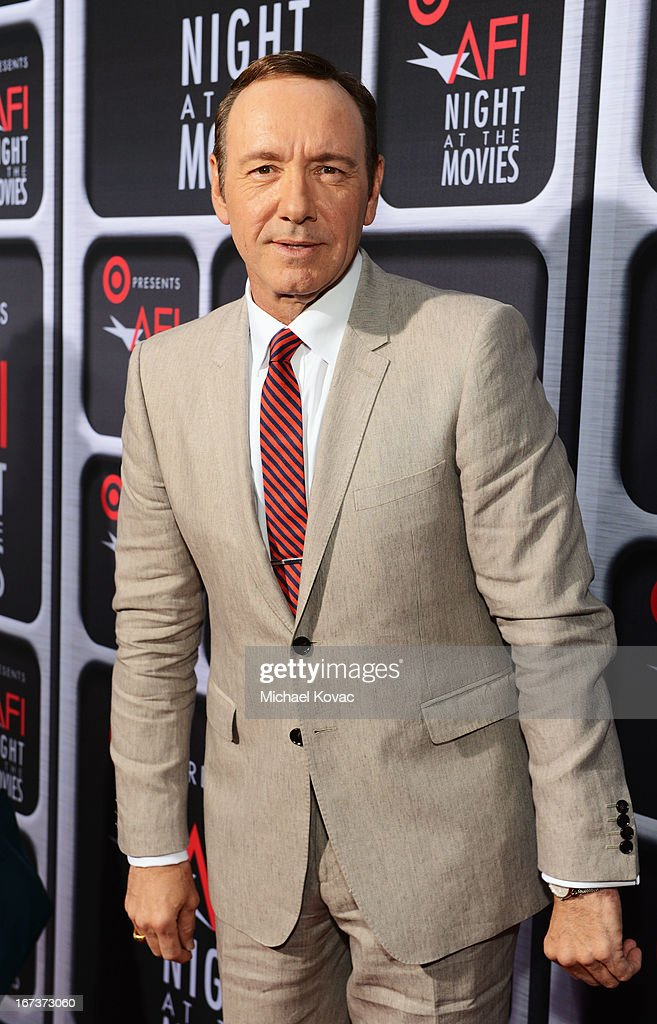 Actor Kevin Spacey arrives on the red carpet for Target Presents AFI's Night at the Movies at ArcLight Cinemas on April 24, 2013 in Hollywood, California.