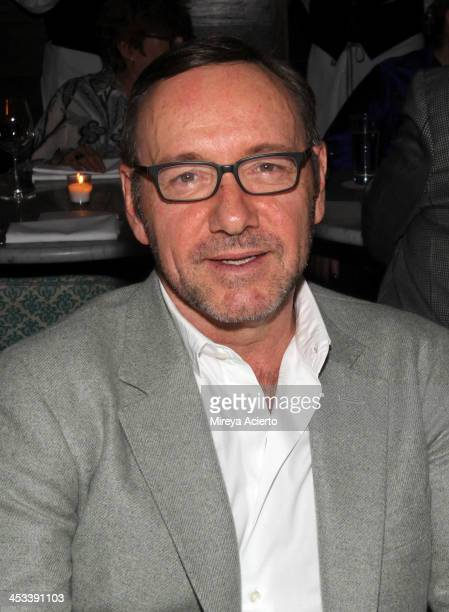 Actor Kevin Spacey at the Tracey Emin dinner hosted by Phillips and Vanity Fair at Cecconi's at Soho Beach House on December 3 2013 in Miami Beach...