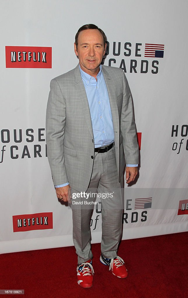 Actor kevin Spacey attends Netflix's 'House Of Cards' For Your Consideration Q&A Event at Leonard H. Goldenson Theatre on April 25, 2013 in North Hollywood, California.