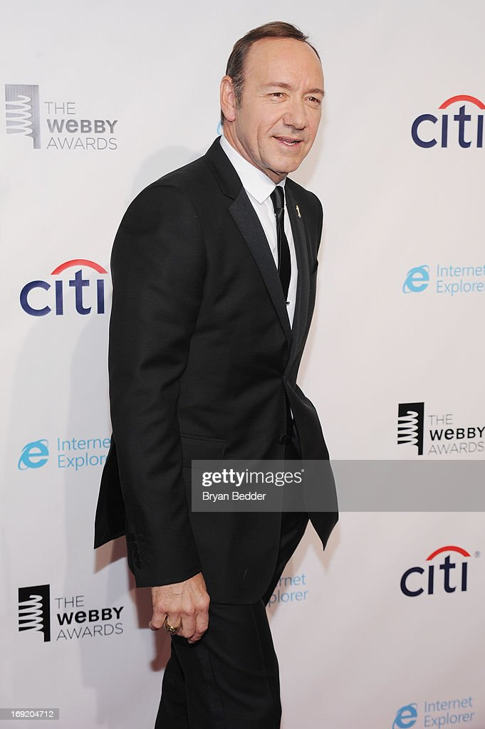 Actor Kevin Spacey attends the 17th Annual Webby Awards at Cipriani Wall Street on May 21, 2013 in New York City.
