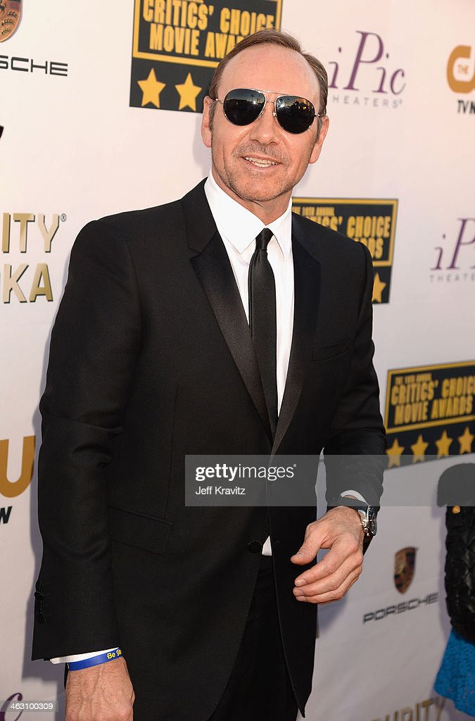 Actor <a gi-track='captionPersonalityLinkClicked' href=/galleries/search?phrase=Kevin+Spacey&family=editorial&specificpeople=202091 ng-click='$event.stopPropagation()'>Kevin Spacey</a> attends the 19th Annual Critics' Choice Movie Awards at Barker Hangar on January 16, 2014 in Santa Monica, California.
