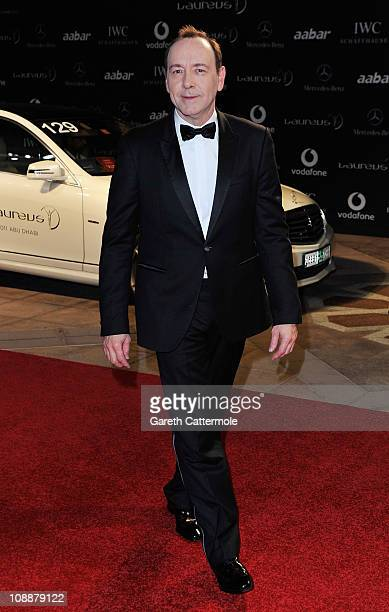 Actor Kevin Spacey attends the 2011 Laureus World Sports Awards at the Emirates Palace on February 7 2011 in Abu Dhabi United Arab Emirates