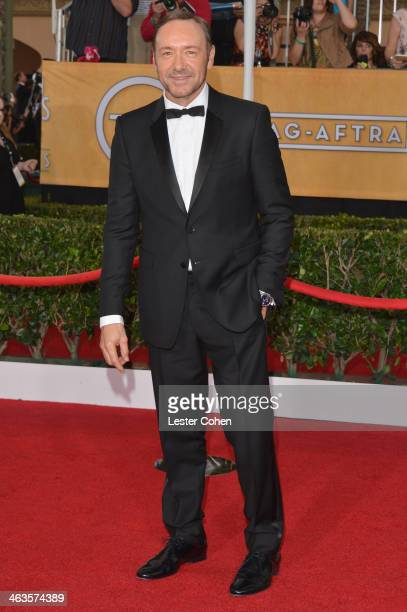 Actor Kevin Spacey attends the 20th Annual Screen Actors Guild Awards at The Shrine Auditorium on January 18 2014 in Los Angeles California
